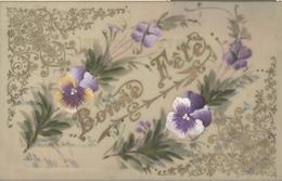 Themes Div-ref AA806- Carte Celluloide -celluloid -translucide -aquarelle - Carte Peinte A La Main - Fleurs Pensées - Cartes Postales