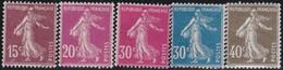 France  .   Yvert    .   189/193       .     **  .    Neuf  SANS  Charniere  .   /   .    MNH - France