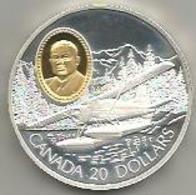 Canada, 20 Dollari Ag. Proof 1991 Aereo Beaver De Havilland, In Confezione Originale Di Zecca, Con Certificato. Mint Box - Canada