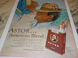 ANCIENNE PUBLICITE CIGARETTE ASTOR AMERICAN BLEND 1965 - Tabac (objets Liés)