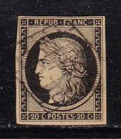 1849 - FRANCIA - Cat. Yvert E Tellier N° 3 - Usato - 1849-1850 Cérès