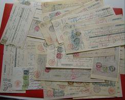 Ca. 1905 Partij Van 45 Cheques Met Diverse Frankeringen / Stempels Zoals Getoond Op De Scans. Leuke Partij !! - Poststempels/ Marcofilie