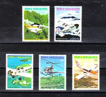 Papua  N. Guinea  - 1981. Aerei E Elicottero. Airplanes And Helicopter. Complete MNH Series - Elicotteri