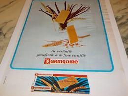 ANCIENNE PUBLICITE GAUFRETTE VANILLE GRINGOIRE 1965 - Affiches