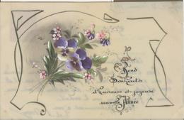 Themes Div-ref AA802- Carte Celluloide -celluloid -translucide -aquarelle-carte Peinte A La Main-fleurs Peintes - - Cartes Postales