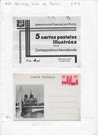 FRANCE Dispersion Collection ENTIERS POSTAUX 5 PIECES - Cartoline Postali E Su Commissione Privata TSC (ante 1995)