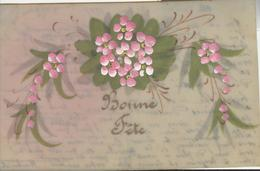 Themes Div-ref AA801- Carte Celluloide -celluloid -translucide -aquarelle-carte Peinte A La Main-fleurs Peintes - - Cartes Postales
