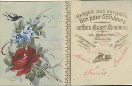 Themes Div-ref AA799- Carte Celluloide -celluloid -translucide -aquarelle-carte Peinte A La Main-banque Des Souhaits - Cartes Postales