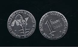 WEST AFRICAN STATES  -  1 Franc 2002 SC  KM8 - Colonias