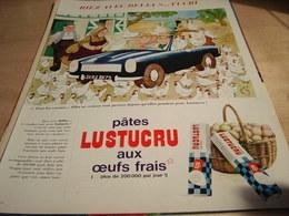 ANCIENNE PUBLICITE BELLUS TUCRU PATES LUSTUCRU 1965 - Affiches