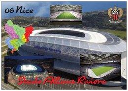 Stade De Football - Stade De Allianz Riviera - NICE - Carte Géo Des Alpes Maritimes - Cpm - Vierge - - Soccer