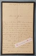 L.A.S 1871 M. De VIGIER - MONTESQUIEU - (Mézin) - à Identifier - à M. Gustave Labat (AGEN) - Lettre Autographe - - Autographes
