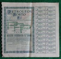 Action Ordinaire De 500 Pesetas - Société Anonyme Petróleos Porto Sise à Barcelone - Pétrole