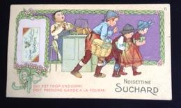 Chocolat Suchard Jolie Chromo Proverbe Fourmi épicier Endormi Volé Vol Panier - Suchard
