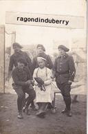 CPA PHOTO - POLOGNE - TESCHEN -CIESZYN - MILITARIA - CHASSEURS ALPINS Du 15ème Ey CUISTOT POLONAIS Conflit 1920 - Pologne