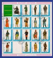 Foglietto Ajman State Military Uniforms 1972 Divise Militari Stamps Bf Sheet - Ajman