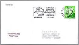DIA DE LA UNION POSTAL INTERNACIONAL - UPU DAY. Monte Carlo 1989 - UPU (Unión Postal Universal)