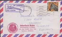 3382   Carta Aérea,Zimbabwe 1980,  Salisbury, - Zimbabwe (1980-...)