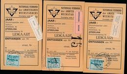 3 KAARTEN VAN WEERSTANDERS 1947  - ZIE 2 SCANS - Documents