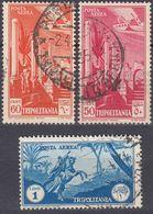 TRIPOLITANIA - 1931/1932 - Lotto Di 3 Valori Di Posta Aerea Usati:  Yvert 8, 9 E 11. - Tripolitania