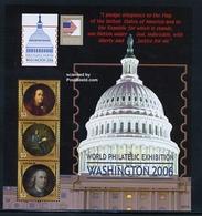 ANTIGUA & BARBUDA, 2006 Washington 2006, Benjamin Franklin 3v M/s MNH - Exposiciones Filatélicas