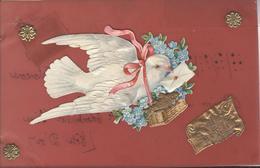 Themes Div-ref AA785-carte Celluloide -celluloid -translucide-découpis - Ajoutis - Decoupi -oiseau Messager - - Cartes Postales