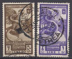 AFRICA ORIENTALE ITALIANA -  1938 - Serie Completa Di 2 Valori Usati: Yvert Posta Aerea 14/15, Come Da Immagine. - Italian Eastern Africa