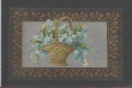Themes Div-ref AA784-carte Celluloide -celluloid -translucide-découpis - Ajoutis - Decoupi -fleurs - Myosotis - - Cartes Postales