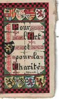 Calendrier. Petit Format 45 X 80 Mm. 1917. Vendu Au Profit Des Nécessiteux. Blasons Des Provinces Belges. - Calendars