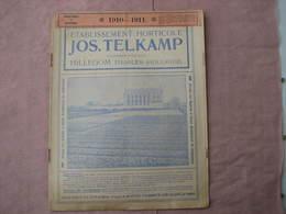 """4 Catalogues Oignons à Fleurs 1910  1909  1920  """" VELSEN - JOS TELKAMP - ROOZEN """"  B.E. Voir Photos - 3. Bulbes"""