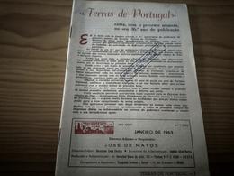 """Revista Sem Capa E Contracapa (DEFEITO) """"Terras De Portugal"""" Ovar, FELGUEIRAS, Lixa, 40 Páginas, Janeiro De 1963 - Tourisme"""