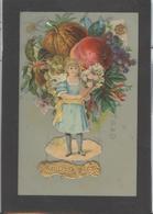 Themes Div-ref AA779-carte Celluloide - Celluloid -translucide - Découpis -ajoutis - Decoupi - Fleurs -fruits - Enfant - - Cartes Postales