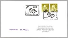 II SEMANA DE FILATELIA JUVENIL. Nules, Castellon, 1990 - Infancia & Juventud