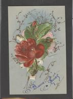 Themes Div-ref AA776-carte Celluloide - Celluloid -translucide - Découpis -ajoutis - Decoupi -fleurs Et Paillettes - - Cartes Postales