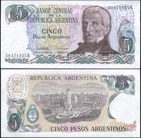 ARGENTINA - 5 Pesos Argentinos Nd.(1983-1984) UNC P.312 A(2) - Argentine