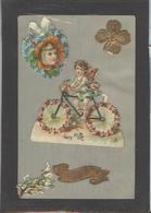 Themes Div-ref AA774-carte Celluloide - Celluloid -translucide - Découpis -ajoutis - Decoupi -enfant  Et Ange - - Cartes Postales