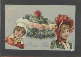 Themes Div-ref AA773-carte Celluloide - Celluloid -translucide - Découpis -ajoutis - Decoupi -femmes -main Tendue - - Cartes Postales