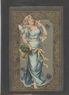 Themes Div-ref AA770-carte Celluloide - Celluloid -translucide - Découpis -ajoutis - Decoupi -femmes - Femme Et Fleurs - - Cartes Postales
