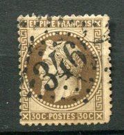 11692  FRANCE  N° 30c °(Maury)  30c Brun Foncé   Napoléon III Lauré  G.C 346 La BastideVillefranche (64)   1867   B/TB - 1863-1870 Napoléon III. Laure