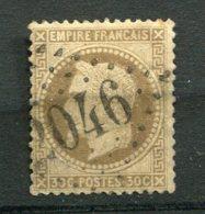 11691  FRANCE  N° 30 °  30c Brun   Napoléon III Lauré  G.C 2046 Lille (57)   1867   B/TB - 1863-1870 Napoleon III With Laurels