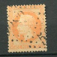 11693  FRANCE  N° 31 ° 40c Orange   Napoléon III Lauré  G.C 5083 ? Constantinople   1868   B/TB - 1863-1870 Napoléon III Lauré