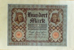 BILLET De BANQUE-ALLEMAGNE-100 MARK-1921 - [ 4] 1933-1945 : Third Reich