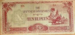 BILLET De BANQUE-JAPON-10 RUPEES-1936 - Japon