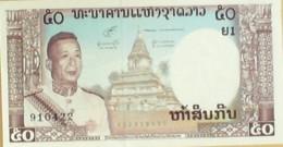 BILLET De BANQUE-LAOS-50 KIP-1960 - Laos