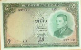 BILLET De BANQUE-LAOS-5 KIP-1966 - Laos