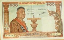 BILLET De BANQUE-LAOS-100 KIP-1965 - Laos