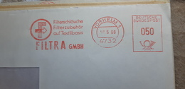 EMA METER SLOGAN FREISTEMPEL Vorhelm 1966 Filtra Filter - Sonstige