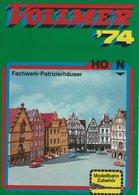 KAT123 Modellkatalog VOLLMER 1974, Modellbahn-Zubehör H0 + N, Neu - Literature & DVD