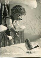 """""""EIN FROHES WEIHNACHTSFEST!"""" MECKI FROM THE FILM """"HOR ZU!"""" DIEHL POSTAL CIRCULATED 1958  HEDGEHOG PUPPET - LILHU - Mecki"""