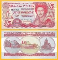 Falkland Islands 5 Pounds P-17 2005  UNC Banknote - Falkland